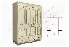 Шкаф для одежды 4д БМ-1935-01